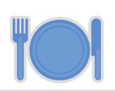 blue plate setting