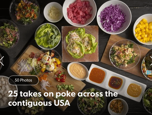 25 takes on pole across the contiguous USA. bowls with fresh ingredients